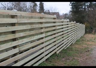 Ny 25m hegn i Gurre nær Helsingør