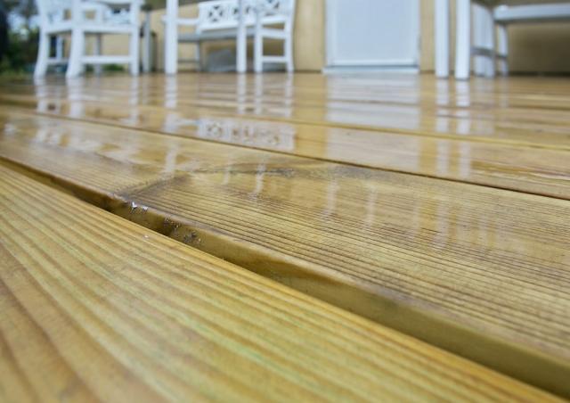 Ny 25 m2 træterrasse til hus i Espergærde nær Helsingør